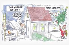 Karikatur – Maler Schultze ist da!