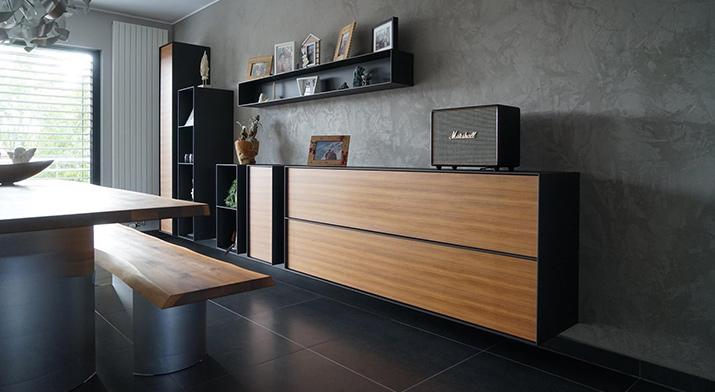 Beispielhafte Innenraumgestaltung mit Volimea Kalkputztechnik